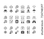 business icons  included normal ... | Shutterstock .eps vector #724748197