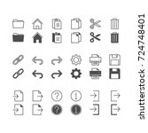 application toolbar icons ... | Shutterstock .eps vector #724748401