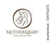 mother and baby logo for baby... | Shutterstock .eps vector #724752271