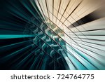 abstract motion blur effect on... | Shutterstock . vector #724764775