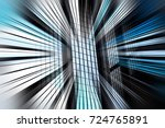 abstract motion blur effect on... | Shutterstock . vector #724765891