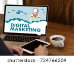 digital marketing new startup... | Shutterstock . vector #724766209
