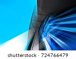 abstract motion blur effect on... | Shutterstock . vector #724766479