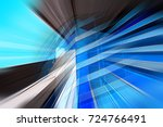 abstract motion blur effect on... | Shutterstock . vector #724766491