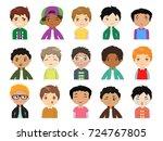 set of cartoon cute  multi...   Shutterstock .eps vector #724767805