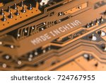 macro image of a motherboard... | Shutterstock . vector #724767955
