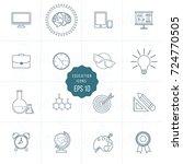 set of education vector line... | Shutterstock .eps vector #724770505