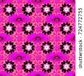 lovely seamless pattern with... | Shutterstock .eps vector #724772755