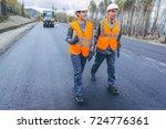 roller road repair | Shutterstock . vector #724776361