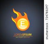 fireball letter e logo | Shutterstock .eps vector #724783297