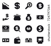 16 vector icon set   crisis ... | Shutterstock .eps vector #724797364