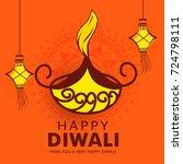 illustration greeting card... | Shutterstock .eps vector #724798111