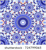 moroccan islamic mosaic... | Shutterstock .eps vector #724799065