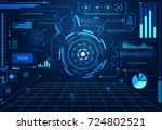 abstract technology ui... | Shutterstock .eps vector #724802521