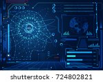abstract technology ui... | Shutterstock .eps vector #724802821