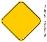 yellow blank sign isolated on... | Shutterstock . vector #72480436