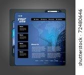 website template   Shutterstock .eps vector #72480646