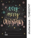 merry christmas and happy new... | Shutterstock .eps vector #724810747