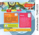abstract design website template | Shutterstock .eps vector #72481123