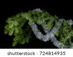 Silver Tinsel On A Spruce...