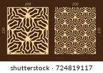 laser cutting set. woodcut... | Shutterstock .eps vector #724819117