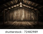 Old Wooden Interior With Light...