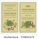 vegetables market  organic food ... | Shutterstock .eps vector #724831675