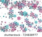 cyan blue  magenta and grey... | Shutterstock .eps vector #724838977