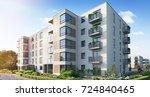 modern residential complex for...   Shutterstock . vector #724840465
