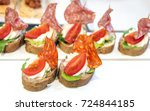 mini sandwiches with cream... | Shutterstock . vector #724844185