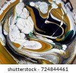 mixture of enamel paints | Shutterstock . vector #724844461