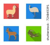lama  ostrich emu  young... | Shutterstock .eps vector #724845391