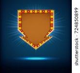 shining retro billboards.... | Shutterstock .eps vector #724850899