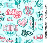 typography save the wedding day ... | Shutterstock .eps vector #724852324