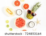 summer background. colorful...   Shutterstock . vector #724853164