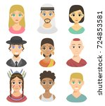 cool avatars different nations... | Shutterstock .eps vector #724853581