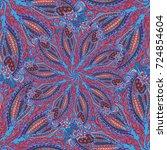 cartoon handdrawn handmade... | Shutterstock . vector #724854604