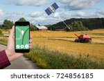 control of the combine...   Shutterstock . vector #724856185