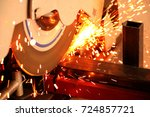metal cutting machine | Shutterstock . vector #724857721