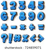 font design for numbers and... | Shutterstock .eps vector #724859071