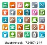 landscape design  icons ... | Shutterstock .eps vector #724874149