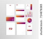 mockup stationery brand... | Shutterstock .eps vector #724878385