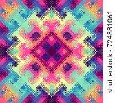 seamless background. geometric... | Shutterstock .eps vector #724881061