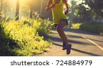 young fitness woman runner... | Shutterstock . vector #724884979