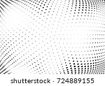 abstract halftone wave dotted... | Shutterstock .eps vector #724889155