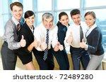 portrait of happy co workers... | Shutterstock . vector #72489280