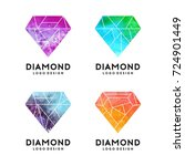 diamond with watercolor texture ... | Shutterstock .eps vector #724901449