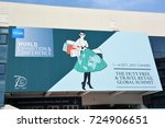 Small photo of CANNES, FRANCE-SEPTEMBER 30: The poster for the Tax Free World Exhibition shown on september 30, 2017 in Cannes, France. The meeting gathers more than 3000 prestigious marks of the duty free industry.