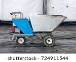 concrete delivery buggy   Shutterstock . vector #724911544