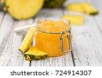 some homemade pineapple jam as... | Shutterstock . vector #724914307
